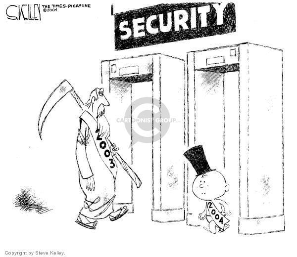 Cartoonist Steve Kelley  Steve Kelley's Editorial Cartoons 2003-12-31 examination