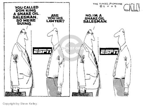Steve Kelley  Steve Kelley's Editorial Cartoons 2005-01-14 sports television