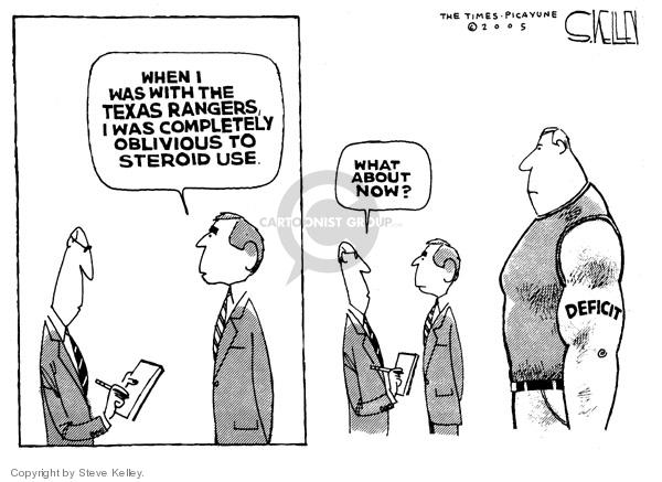 Steve Kelley  Steve Kelley's Editorial Cartoons 2005-02-11 federal budget