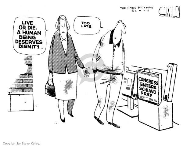 Cartoonist Steve Kelley  Steve Kelley's Editorial Cartoons 2005-03-22 states rights