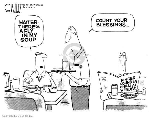 Cartoonist Steve Kelley  Steve Kelley's Editorial Cartoons 2005-03-28 fast food