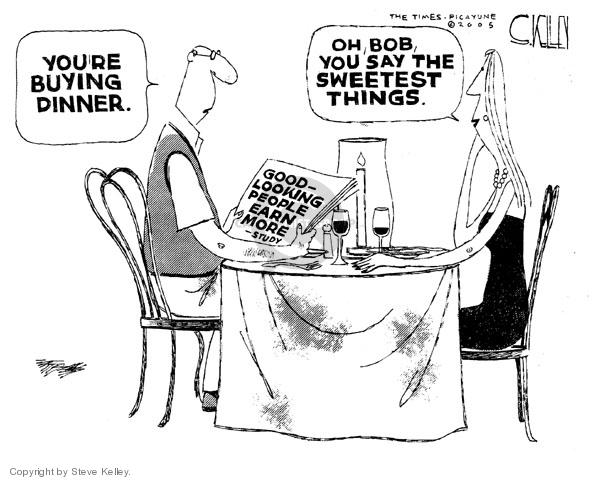 Cartoonist Steve Kelley  Steve Kelley's Editorial Cartoons 2005-04-11 eat