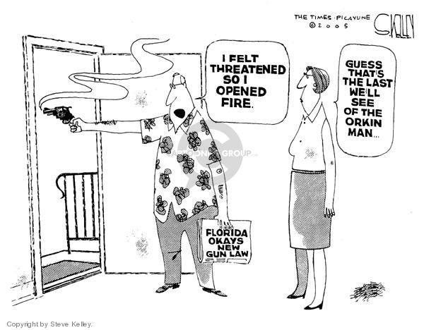 Cartoonist Steve Kelley  Steve Kelley's Editorial Cartoons 2005-04-28 second amendment