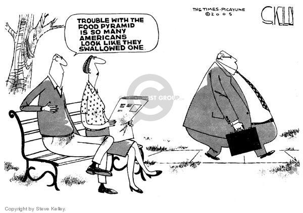 Steve Kelley  Steve Kelley's Editorial Cartoons 2005-04-29 pyramid