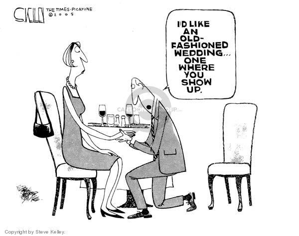Steve Kelley  Steve Kelley's Editorial Cartoons 2005-05-03 romance