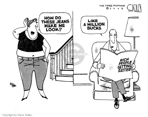 Cartoonist Steve Kelley  Steve Kelley's Editorial Cartoons 2005-05-04 weight