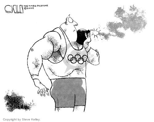 Steve Kelley  Steve Kelley's Editorial Cartoons 2004-05-06 2004 Olympics