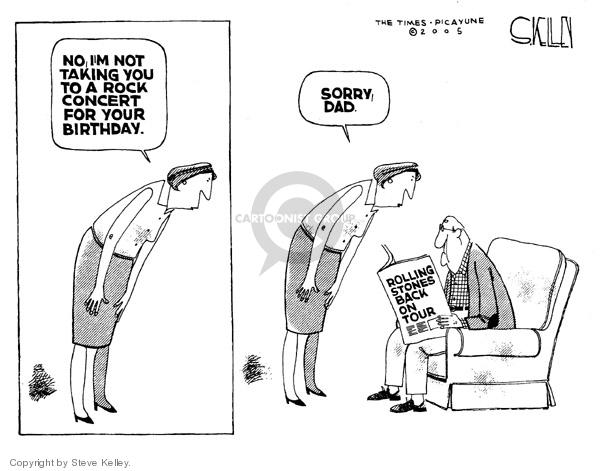 Cartoonist Steve Kelley  Steve Kelley's Editorial Cartoons 2005-05-12 father