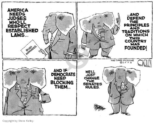 Steve Kelley  Steve Kelley's Editorial Cartoons 2005-05-17 principle