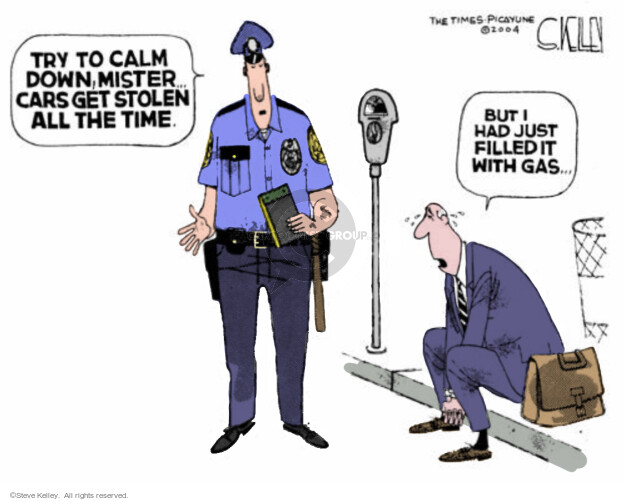 Steve Kelley  Steve Kelley's Editorial Cartoons 2004-05-20 police