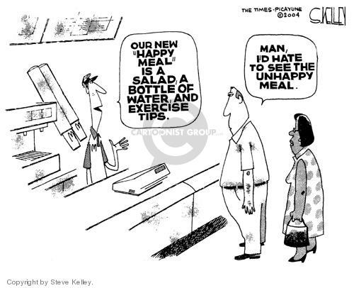Cartoonist Steve Kelley  Steve Kelley's Editorial Cartoons 2004-05-24 fast food