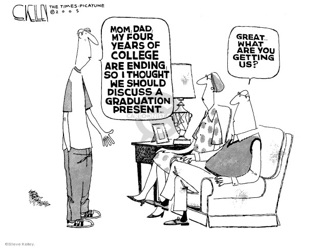 Cartoonist Steve Kelley  Steve Kelley's Editorial Cartoons 2005-05-24 father