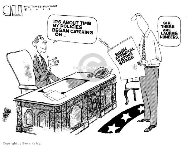 Cartoonist Steve Kelley  Steve Kelley's Editorial Cartoons 2005-05-26 first lady