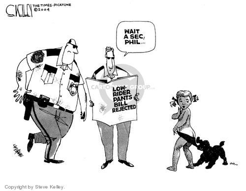 Steve Kelley  Steve Kelley's Editorial Cartoons 2004-05-27 policeman