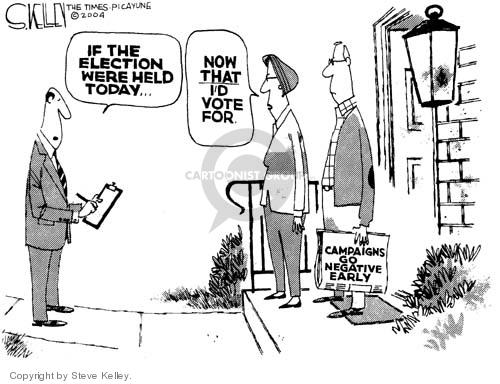 Cartoonist Steve Kelley  Steve Kelley's Editorial Cartoons 2004-06-03 election