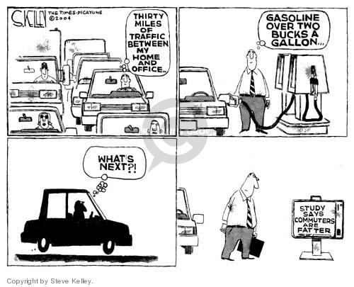 Cartoonist Steve Kelley  Steve Kelley's Editorial Cartoons 2004-06-04 automobile energy