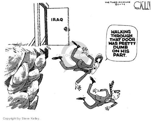 Cartoonist Steve Kelley  Steve Kelley's Editorial Cartoons 2004-07-14 issue policy