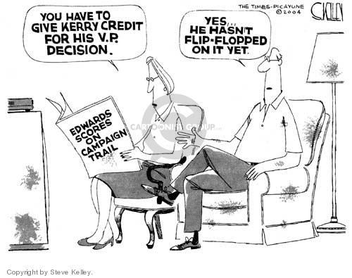 Cartoonist Steve Kelley  Steve Kelley's Editorial Cartoons 2004-07-16 flip