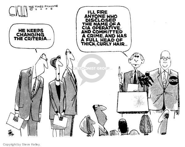 Cartoonist Steve Kelley  Steve Kelley's Editorial Cartoons 2005-07-19 CIA