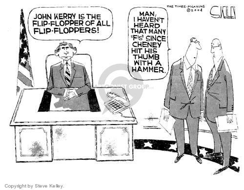 Cartoonist Steve Kelley  Steve Kelley's Editorial Cartoons 2004-07-23 flip