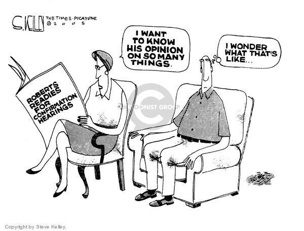 Steve Kelley  Steve Kelley's Editorial Cartoons 2005-07-26 vacancy