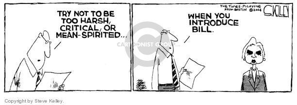 Cartoonist Steve Kelley  Steve Kelley's Editorial Cartoons 2004-07-27 first lady