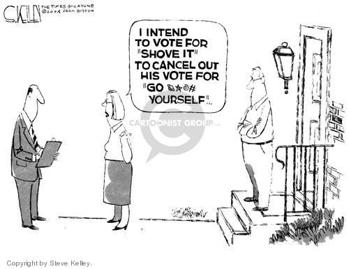 Cartoonist Steve Kelley  Steve Kelley's Editorial Cartoons 2004-07-29 vice president