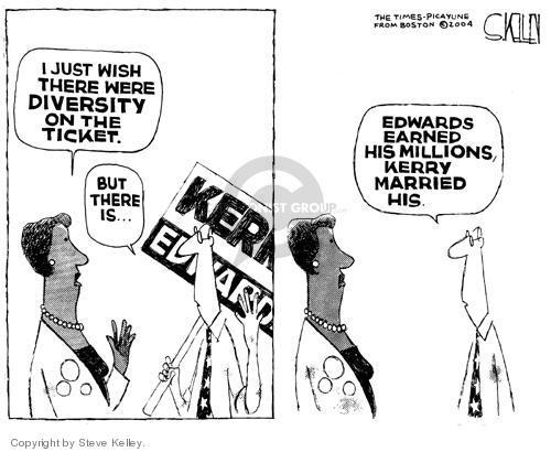 Cartoonist Steve Kelley  Steve Kelley's Editorial Cartoons 2004-07-30 rights