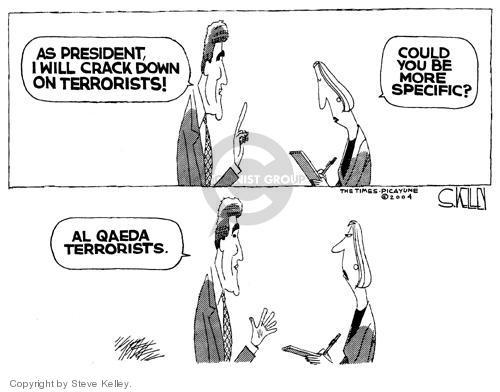 Cartoonist Steve Kelley  Steve Kelley's Editorial Cartoons 2004-08-04 issue policy