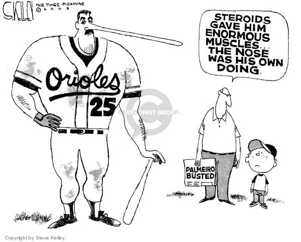 Cartoonist Steve Kelley  Steve Kelley's Editorial Cartoons 2005-08-04 athlete