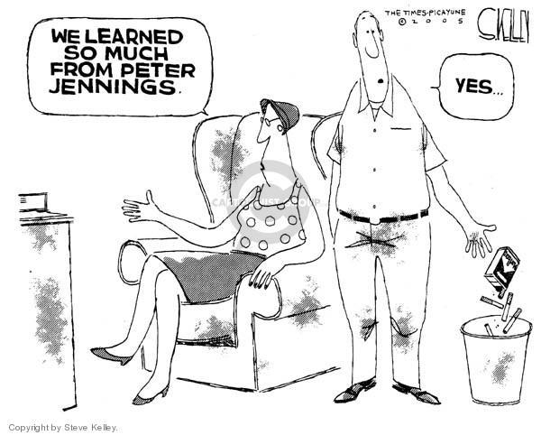 Steve Kelley  Steve Kelley's Editorial Cartoons 2005-08-09 Peter