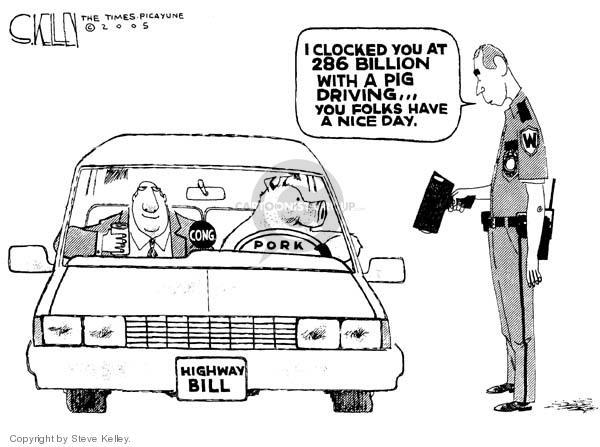 Steve Kelley  Steve Kelley's Editorial Cartoons 2005-08-12 highway