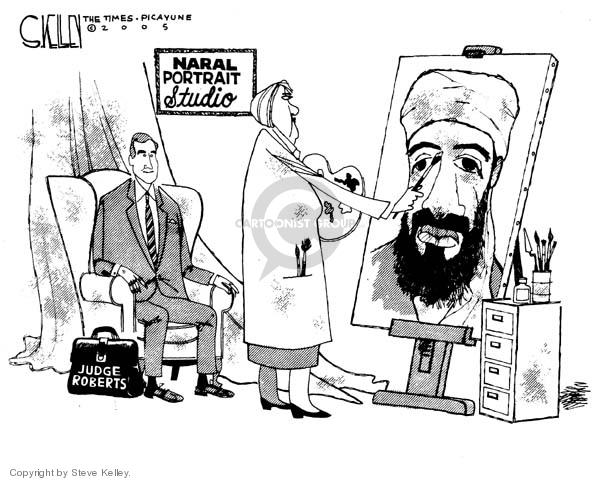 Cartoonist Steve Kelley  Steve Kelley's Editorial Cartoons 2005-08-15 painter