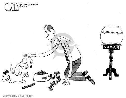 Cartoonist Steve Kelley  Steve Kelley's Editorial Cartoons 2004-08-17 fish