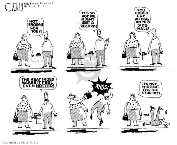 Cartoonist Steve Kelley  Steve Kelley's Editorial Cartoons 2005-08-19 heat
