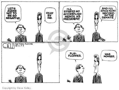 Cartoonist Steve Kelley  Steve Kelley's Editorial Cartoons 2004-08-20 flip
