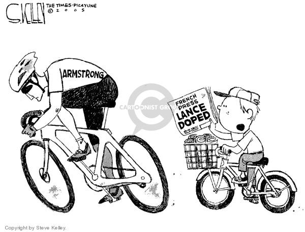 Cartoonist Steve Kelley  Steve Kelley's Editorial Cartoons 2005-08-29 red