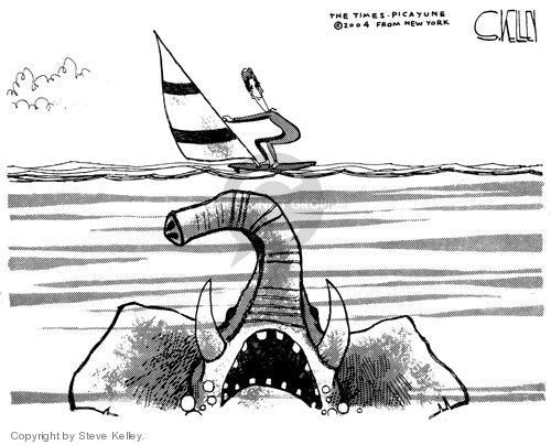 Steve Kelley  Steve Kelley's Editorial Cartoons 2004-09-03 vacation