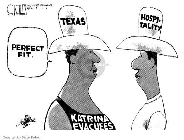 Steve Kelley  Steve Kelley's Editorial Cartoons 2005-09-07 Texas