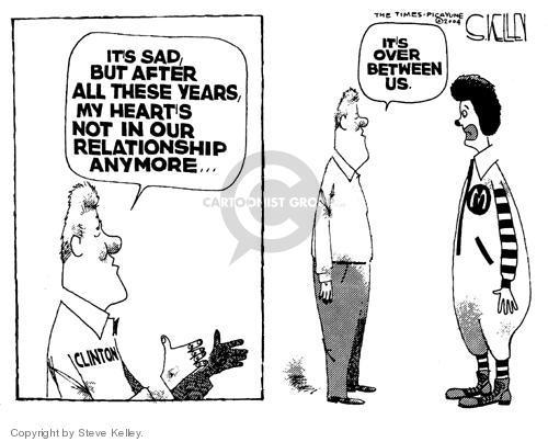Cartoonist Steve Kelley  Steve Kelley's Editorial Cartoons 2004-09-08 fast food