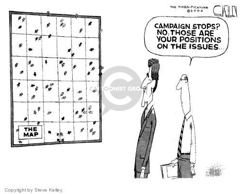 Cartoonist Steve Kelley  Steve Kelley's Editorial Cartoons 2004-09-09 issue policy