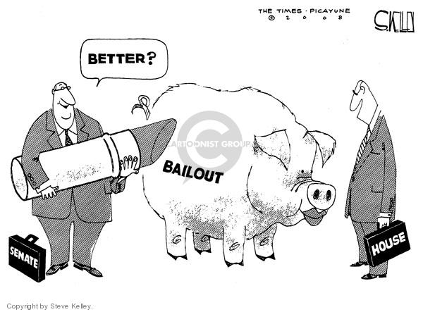 Steve Kelley  Steve Kelley's Editorial Cartoons 2008-10-03 stock market