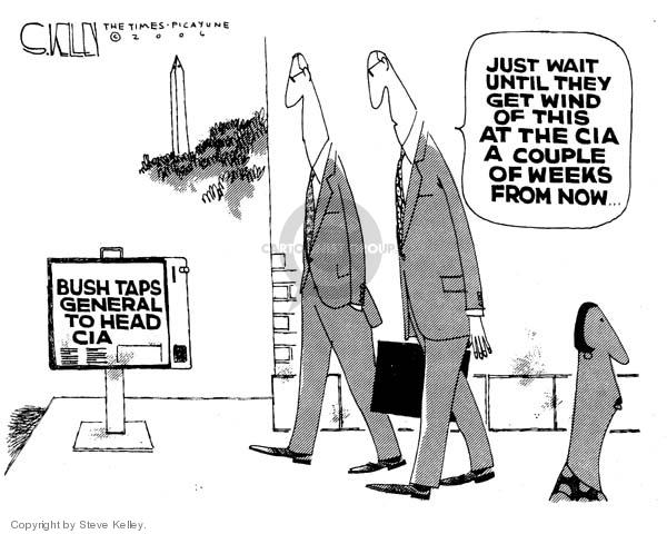 Cartoonist Steve Kelley  Steve Kelley's Editorial Cartoons 2006-05-09 CIA