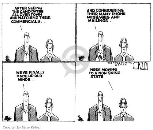 Cartoonist Steve Kelley  Steve Kelley's Editorial Cartoons 2004-10-06 finally