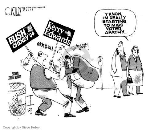 Cartoonist Steve Kelley  Steve Kelley's Editorial Cartoons 2004-10-22 2004 election
