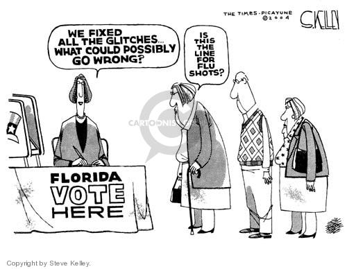 Cartoonist Steve Kelley  Steve Kelley's Editorial Cartoons 2004-10-29 2004 election