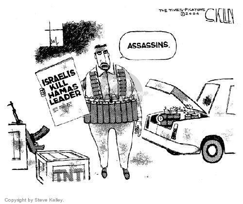 Steve Kelley  Steve Kelley's Editorial Cartoons 2004-03-24 Israel