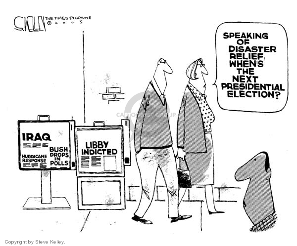 Cartoonist Steve Kelley  Steve Kelley's Editorial Cartoons 2005-11-01 CIA leak investigation