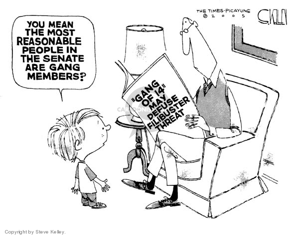 Cartoonist Steve Kelley  Steve Kelley's Editorial Cartoons 2005-11-04 threat