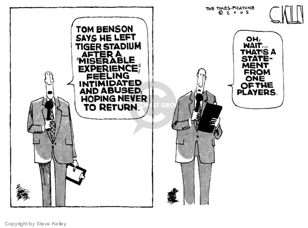 Cartoonist Steve Kelley  Steve Kelley's Editorial Cartoons 2005-11-04 player